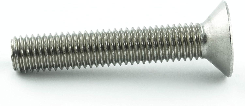 Gewindeschrauben 40 St/ück Eisenwaren2000 - DIN 7991 rostfrei ISO 10642 Senkkopf Schrauben Edelstahl A2 V2A Vollgewinde M8 x 14 mm Senkkopfschrauben mit Innensechskant