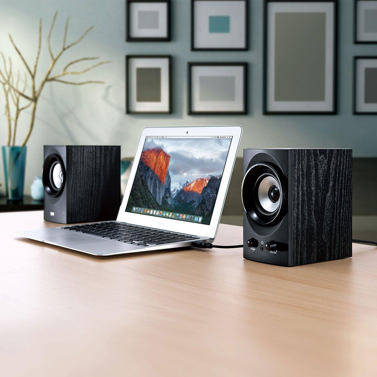 SANWA SUPPLY high-power USB speaker MM-SPU9BK (Black) by Sanwa (Image #2)