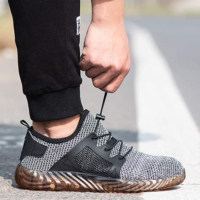 Vertvie Unisex Chaussure de Securit/é Embout Acier Protection Chaussures de Travail L/éger Antid/érapant Respirante Basket Chantiers Industrie Anti-Perforation Sneakers Casual