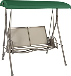 Garden Winds Replacement Canopy Top Cover for Garden Treasures SS-909E-1 Swing - RipLock 350 - Green