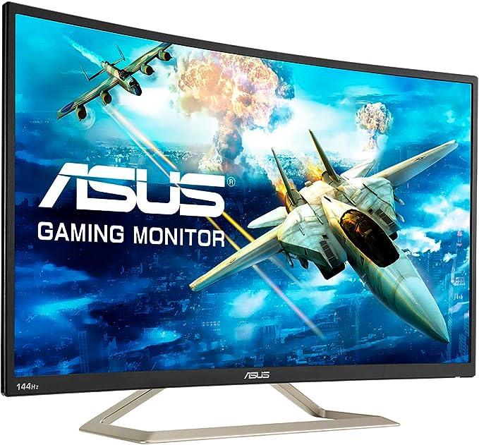 Dalle VA incurv/ée 1800R Haut-parleurs Flicker Free AMD FreeSync HDMI et VGA 16:9-144Hz Filtres de lumi/ère bleue ASUS VA326HR Ecran PC 31,5 FHD 1920x1080-300cd//m/²