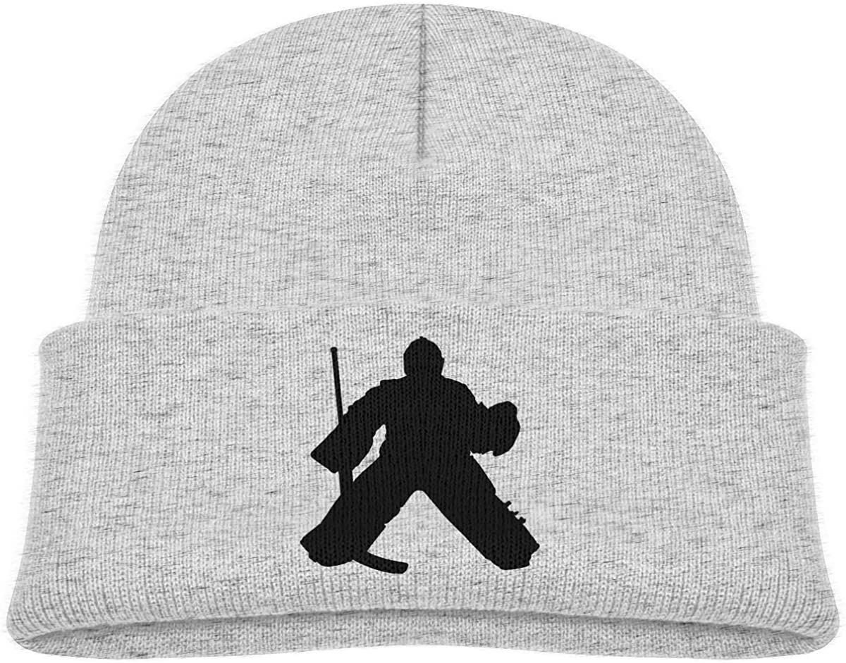 EASON-G Toddlers Beanie Hockey Goalie Cuffed Knit Hat Skull Cap
