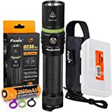 Fenix UC30 2017 Edition 1000 Lumen USB Rechargeable LED Flashlight With Rechargeable Battery, Holster, Charging Cable and LumenTac Battery Organizer