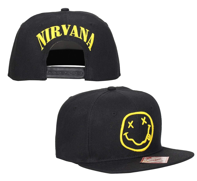 Nirvana Smiley Original Snapback HAT (Black d95f68563974