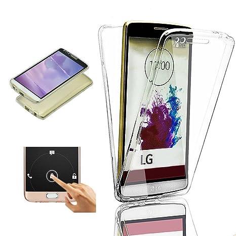 2ndSpring LG G4 Funda, 360 Grados Doble Delantera + Trasera De Gel Integral Silicona TPU Carcasa Case Cover para LG G4,Claro