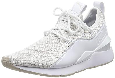 brand new c8bb5 506d9 Puma Muse 2 Reptile TZ Wn s, Sneakers Basses Femme, Blanc White-Fuchsia  Purple