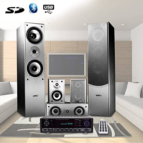Home-Cinema 850W 5 altavoces, amplificador, 2 x 3 x, 50 w 20 ...