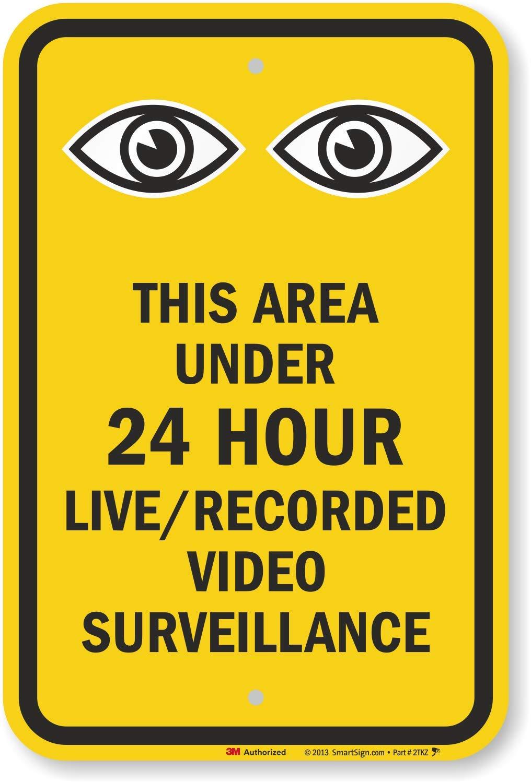Esta zona bajo 24 hora Live/grabado de vigilancia de vídeo ...