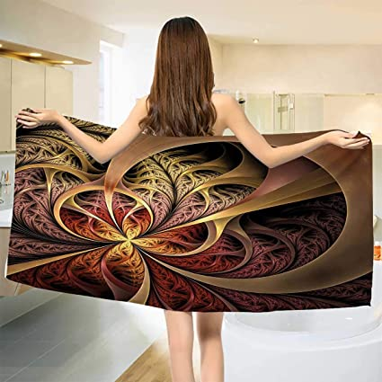 Amazon.com: Chaneyhouse Fractal,Baby Bath Towel,Gothic Stylized ...