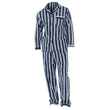 bas prix 805b8 fe0de Universal Textiles Mens Striped Flannel Long Sleeved Shirt & Trousers  Pyjamas/Lounge Set