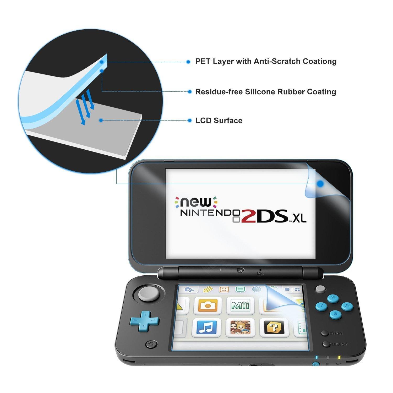 Protector de Pantalla para Nintendo New 2DS XL [3 Paquetes]- Younik Protector de pantalla HD de 0.125mm/4H ultra transparente para New Nintendo 2DS XL ...