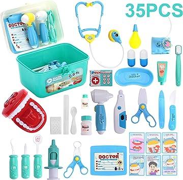 Amazon.com: Kids Toys - Kit médico con 35 piezas de equipo ...