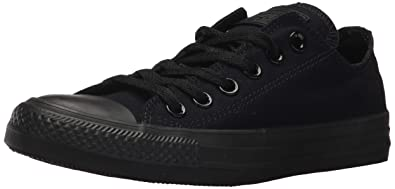 e93d9c9df372 Converse Unisex Chuck Taylor All Star Low Top Black Black Sneakers - US  Women s 3