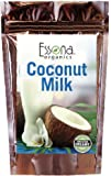 Organic Coconut Milk Powder 100 % Pure Concentrated Powder, Raw, Vegan - From Essona Organics - Now 33 % Larger Size - 240 grams in a convenient, resealable pouch.
