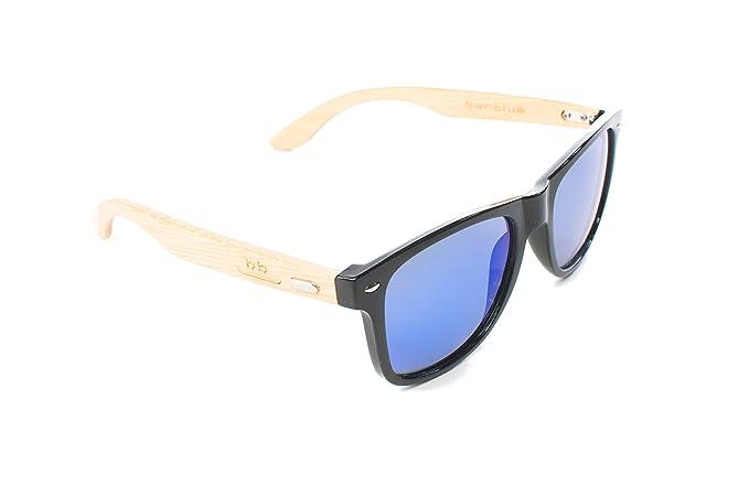 Amazon.com: banblue bambú anteojos de sol con lentes de ...
