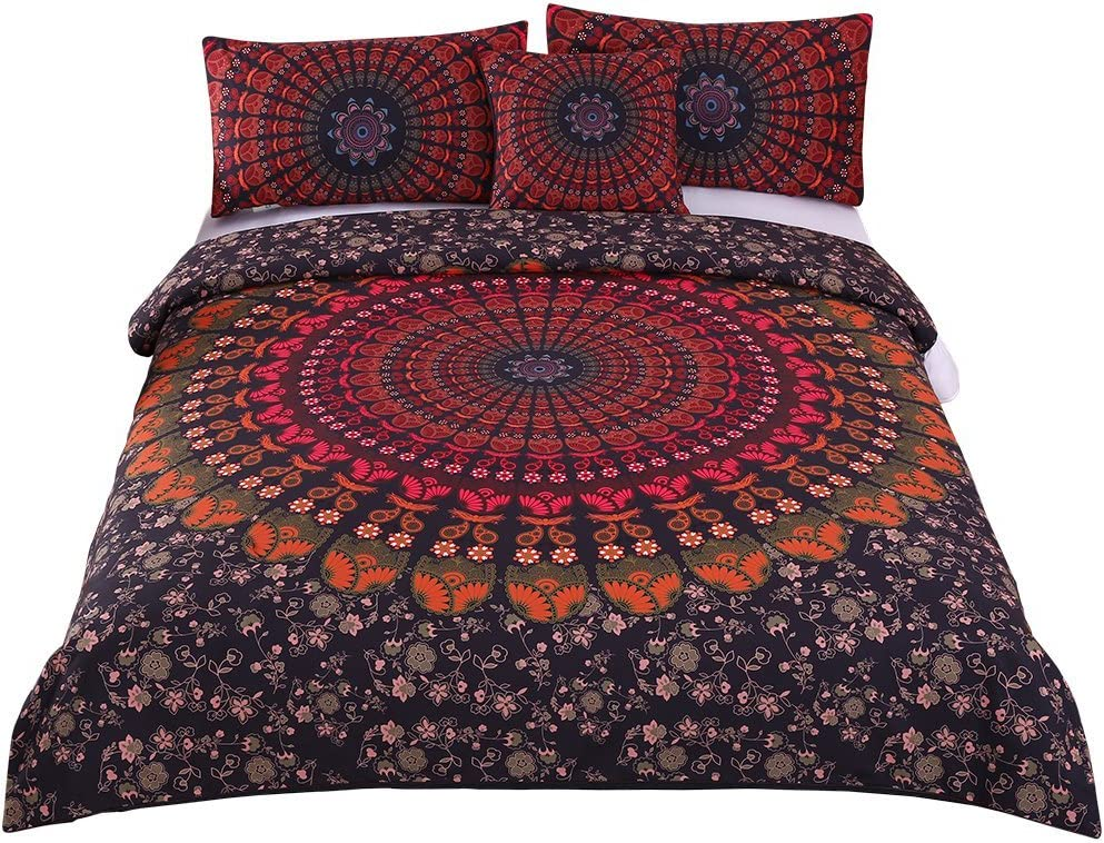 Comforter Multi Colored Amazing Purple Night Sky Bedding Set,Set Duvet Cover Hippie Printed Duvet Cover Bedding Coverlet Spiritual