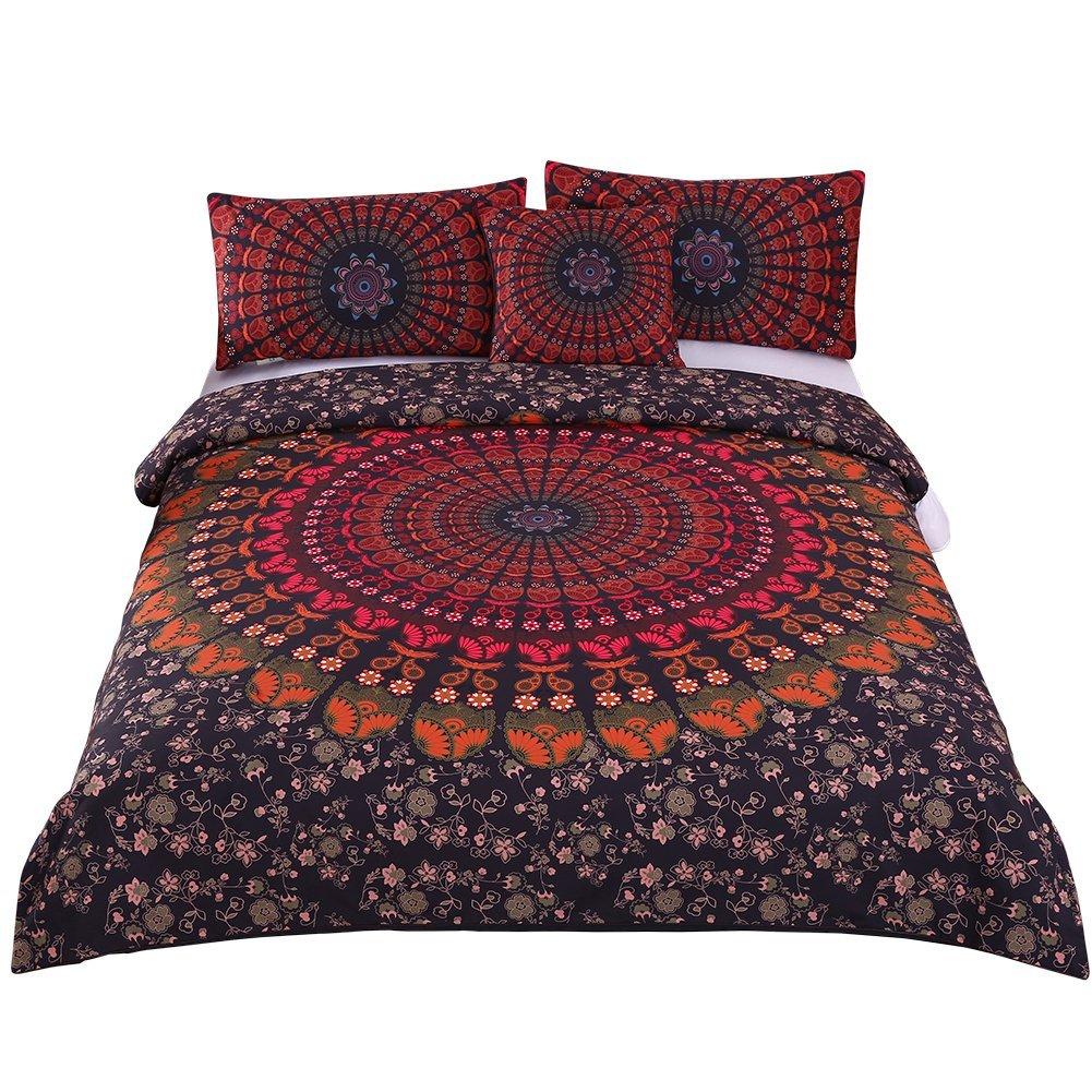 Sleepwish 4 Pcs Mandala Hippie Concealed Bedspread