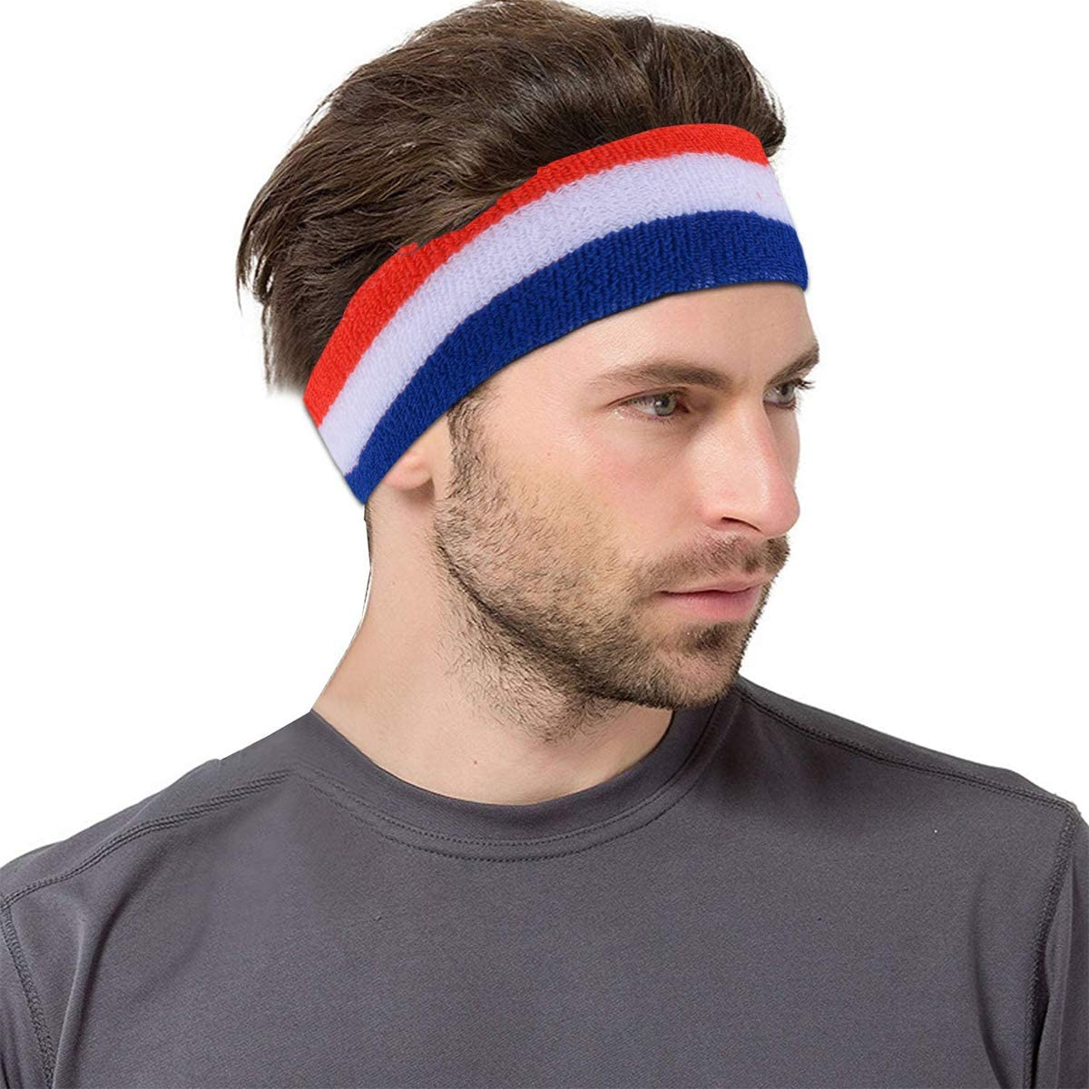 VGEBY Sport Yoga Bandeau R/églable Bande De Cheveux Respirant Large /Élastique Bandeau De Remise en Forme Courir V/élo Accessoire