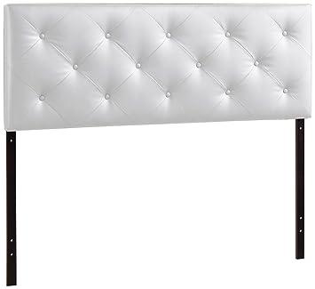 baxton studio wholesale interiors baltimore faux leather headboard queen white