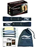 Victorem  Speed & Agility Leg Resistance  - Ultimate Speed Bands Set - Physical Fitness Workout Training - Increase Muscle Endurance - Football, Basketball, Soccer, Track & Field