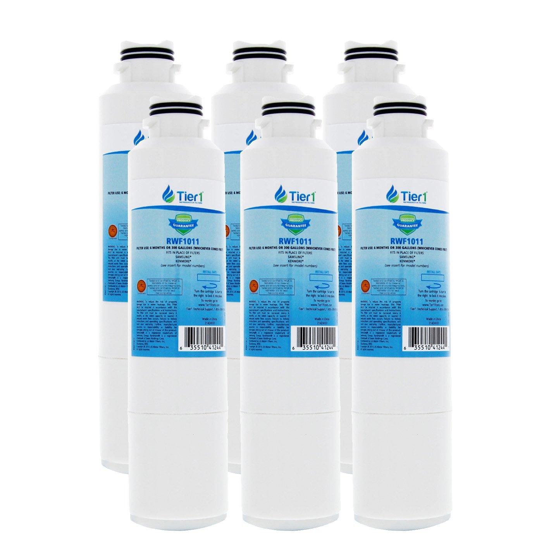 Tier1 Replacement for Samsung DA29-00020B, DA29-00020A, HAFCIN/EXP, HAFCIN, 46-9101, DA97-08006A-B Refrigerator Water Filter 6 Pack