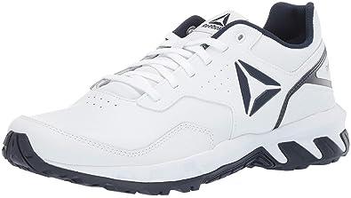fc4a2022a1d2 Reebok Men s Ridgerider 4.0 Leather Walking Shoe White Collegiate Navy 7 ...