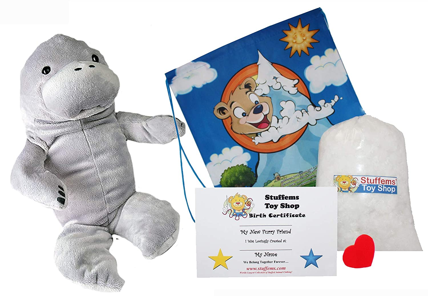 Kit With Cute Backpack! Make Your Own Stuffed Animal Molly the Manatee No Sew