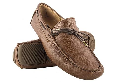 Zerimar Náuticos de Piel para Hombre | Náuticos Hombre Verano | Zapatos Náuticos Hombre | Mocasines Hombre | Tallas Grandes 46-50 | Náuticos Piel: ...