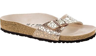 BIRKENSTOCK Damen Madrid Birko-Flor Normal Kupfer Leder Sandalen 35