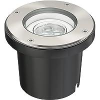 parlat LED lámpara empotrable en el suelo para el exterior, giratorio, blanca cálida, IP67, 230V, 150mm Ø