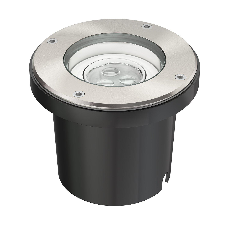 parlat LED Boden-Einbauleuchte für außen, schwenkbar, warm-weiß, IP67, 230V, 155mm Ø [Energieklasse A] warm-weiß 155mm Ø LEDs Com GmbH LC-EL-034-WW