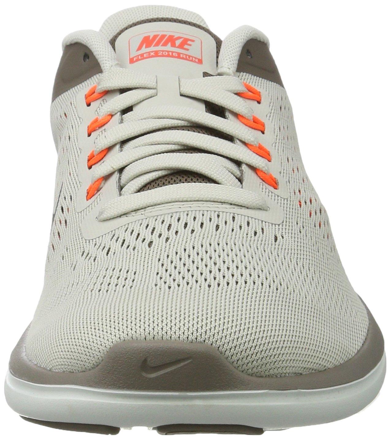 Nike Mens Flex 2016 RN Running Shoe Light Bone/Dark Mushroom/Hyper Orange/Black 8.5 D(M) US by NIKE (Image #4)
