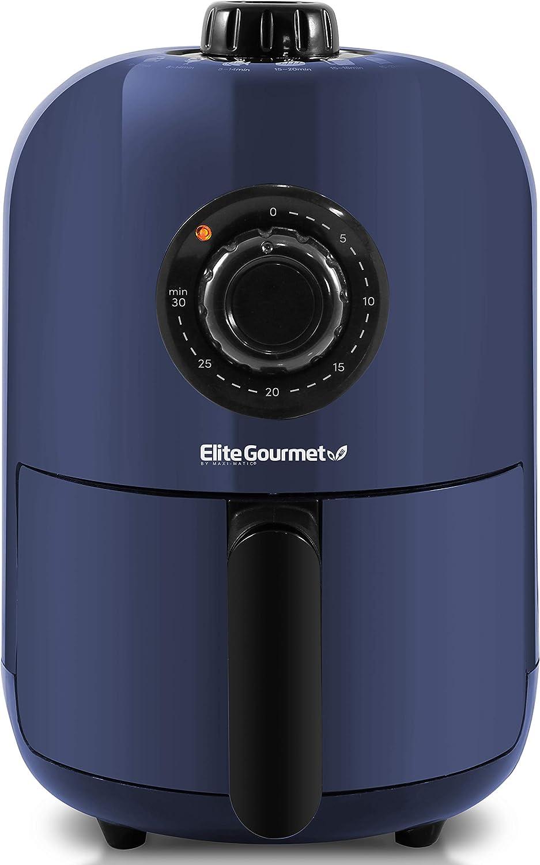 Elite Gourmet EAF1121BG Personal 1.1 Qt. Compact Space Saving Electric Hot Air Fryer Oil-Less Healthy Cooker, Timer & Temperature Controls, PFOA/PTFE Free, 1000W