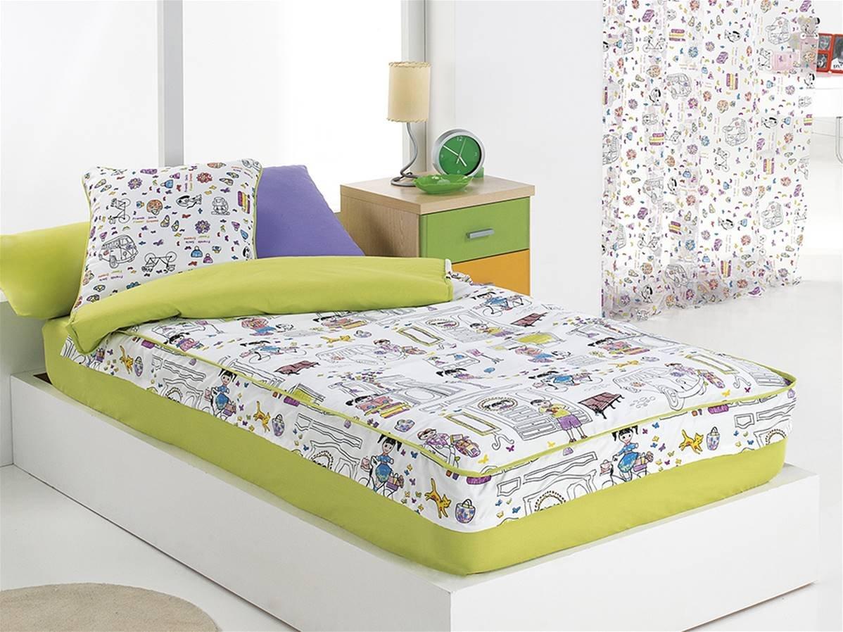 CAÑETE - Saco nórdico Kids Cama 105 - Color Kids sin Relleno: Amazon.es: Hogar