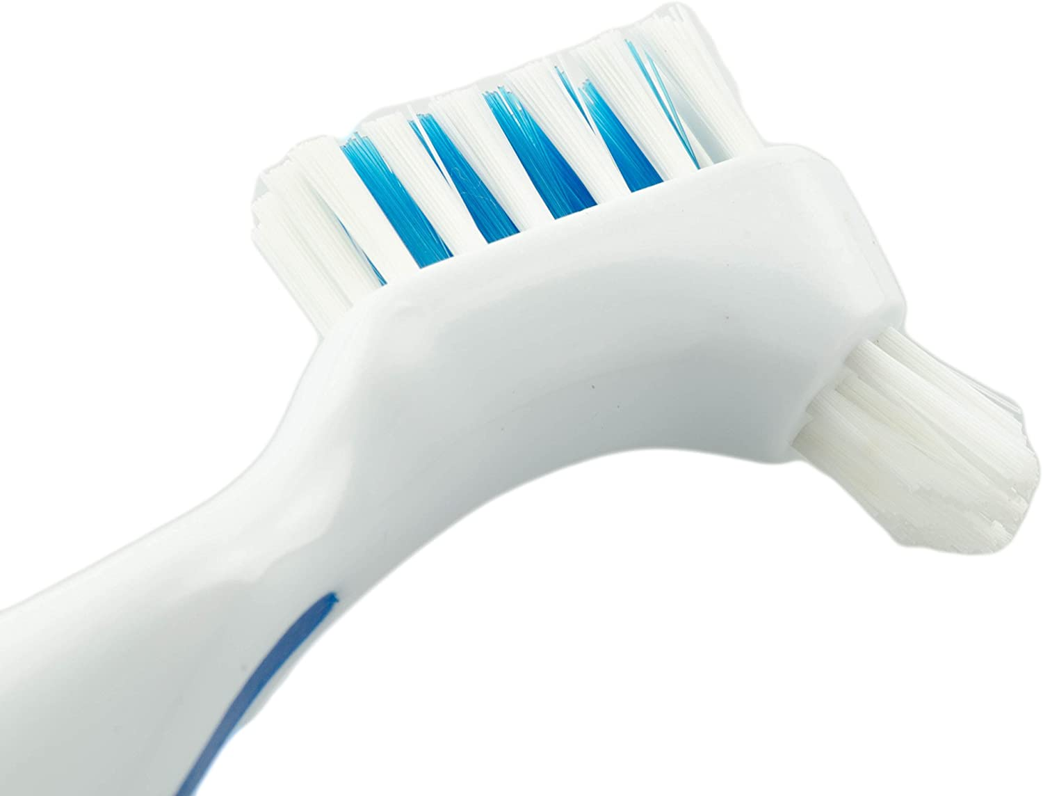 Koala Lifestyle Denture Cleaner Brushes with Covers | Cleaning Toothbrush for Dentures, False Teeth, Night Guards for Teeth Grinding, Dental Devices, and Mouth Guards | 3 Pieces, White / Blue: Health & Personal Care