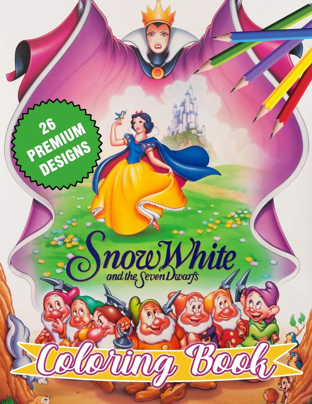 Snow White Coloring Book Great Coloring Book For Kids And Adults Snow White Coloring Book With High Quality Images For All Ages Daniel Daniel D 9798666110171 Amazon Com Books