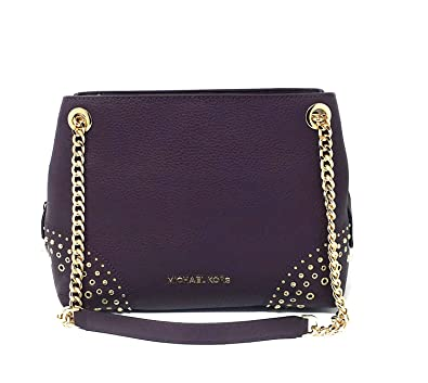 2c494a9e6 Michael Kors Jet Set Item Women's Medium Chain Messenger Leather Shoulder  Bag Purse Handbag (Damson): Handbags: Amazon.com