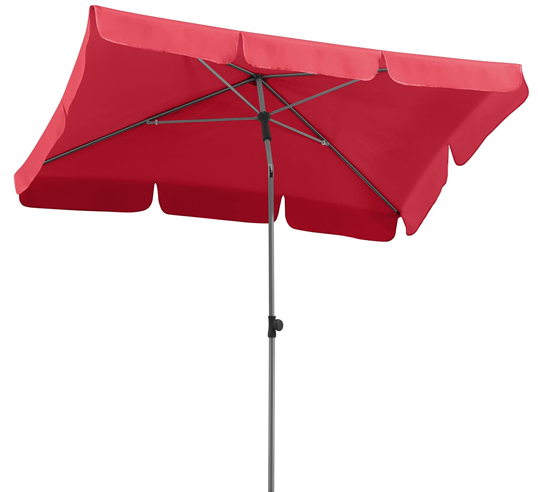 Amazon Schneider Sonnenschirm Locarno rot 180x120 cm rechteckig Gestell Stahl Bespannung Polyester 2 3 kg