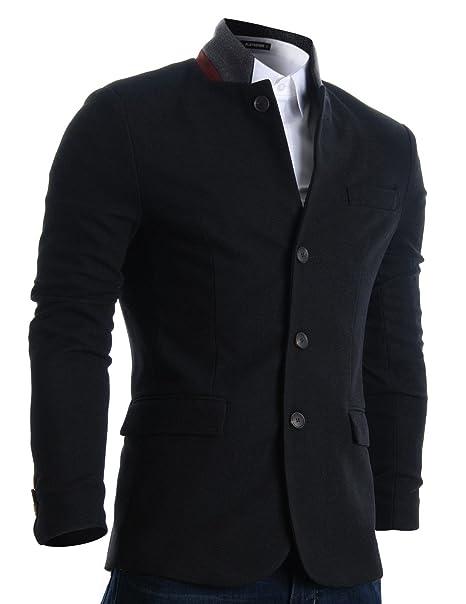 Flatseven - Chaqueta para hombre Slim Fit Casual con relieve: Amazon.es: Ropa y accesorios
