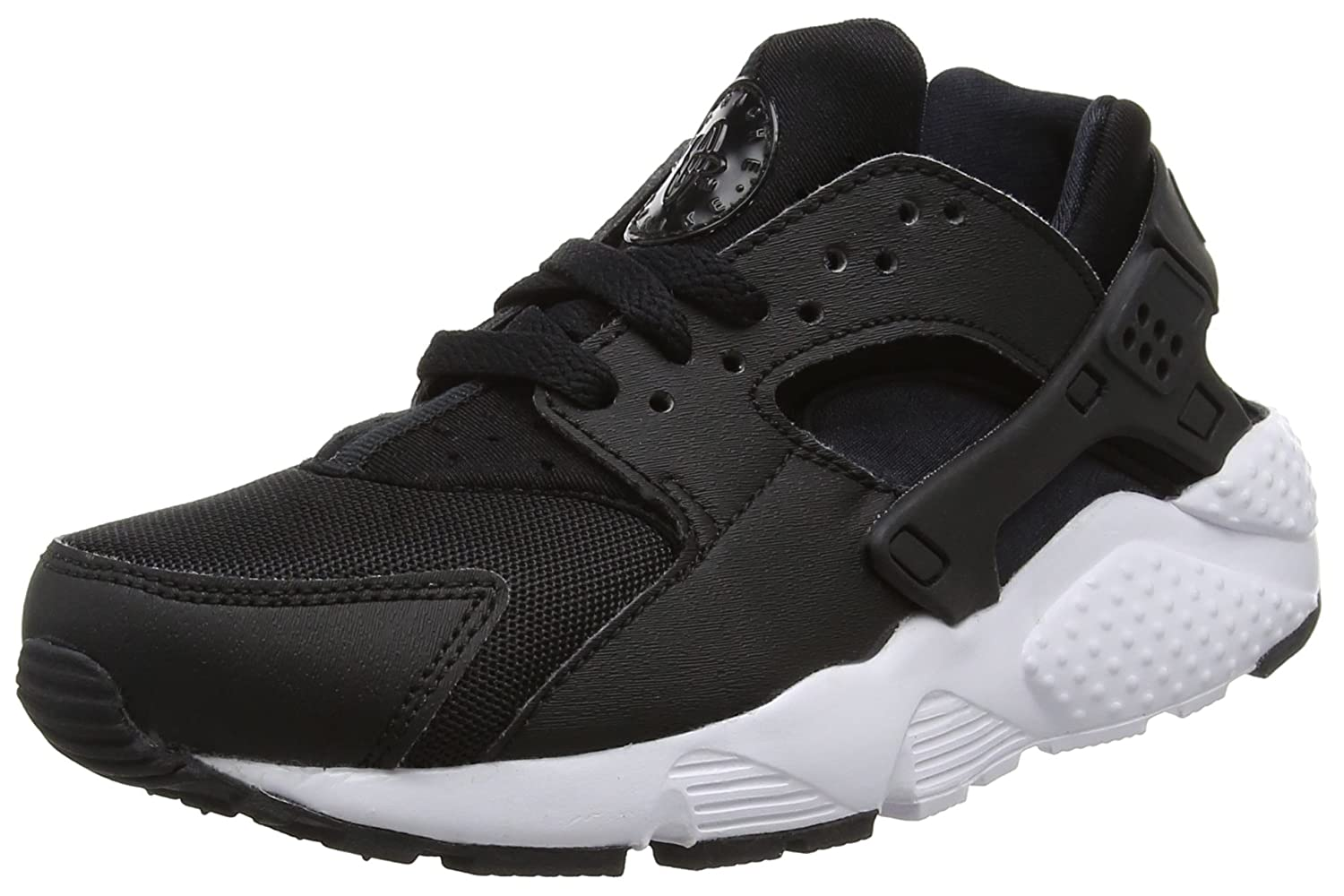 Nike Huarache Run (GS), Zapatillas de Running para Niños 36 EU|Negro / Blanco (Black / White)