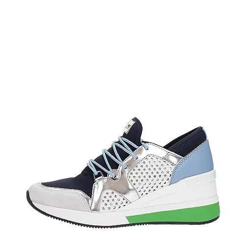Michael Kors Zapatillas de Piel Para Mujer Blanco Bianco Blanco Size: 38.5 EU: Amazon.es: Zapatos y complementos