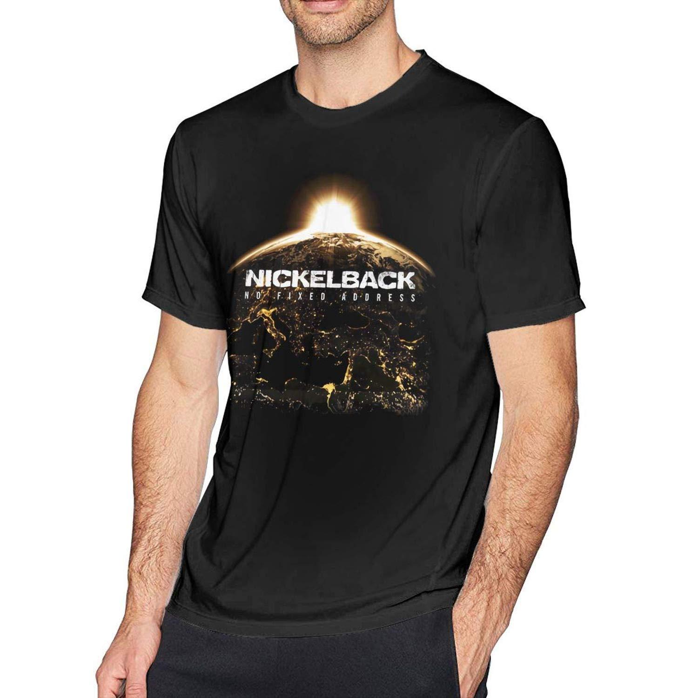 Wxzdh S Fashion Nickelback T Shirts Black