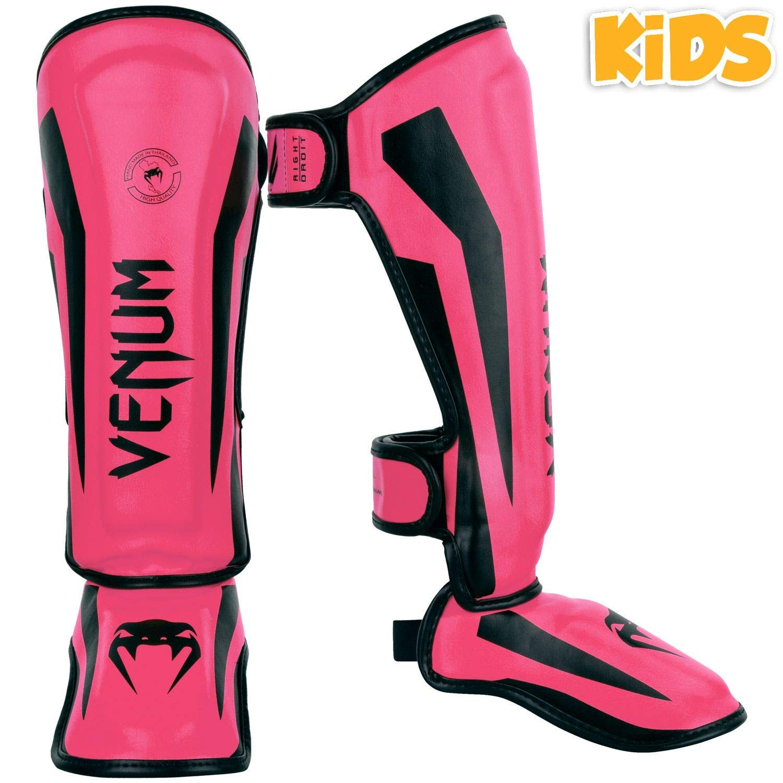 Venum Schienbeinschoner Elite Kinder Jugend Fluoreszierend Pink Kickboxen Muay Thai Auffallend