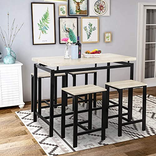 JOCESTYL 5-Piece Dining Table Set