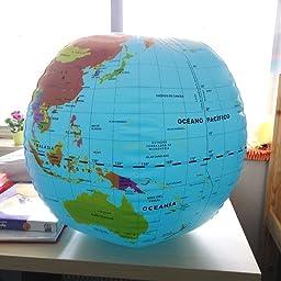 Globo terráqueo 50 cm: VV.AA.: Amazon.es: Juguetes y juegos