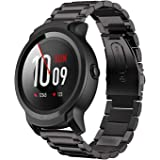 Aresh Compatible Ticwatch E2 Bands & Ticwatch S2 Bands,22Mm Stainless Steel Metal Strap for Ticwatch E2 & Ticwatch S2 Google Fitness Smartwatch (Black)