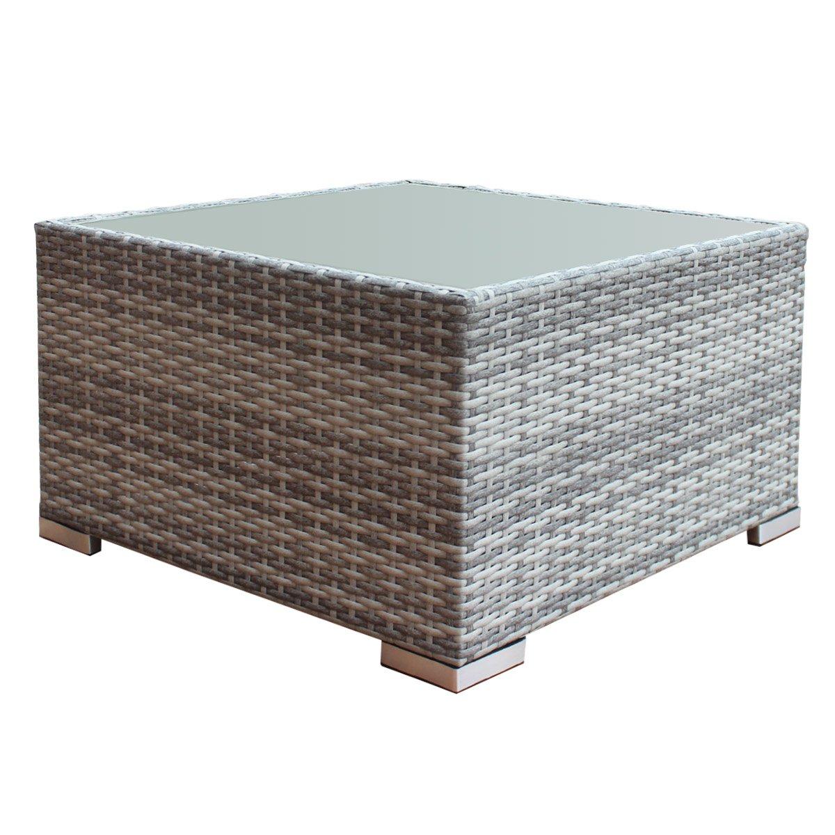 Tangkula Wicker Sofa Outdoor Patio Wicker Infinitely Combination Sofa Set (D-Coffee Table) by Tangkula