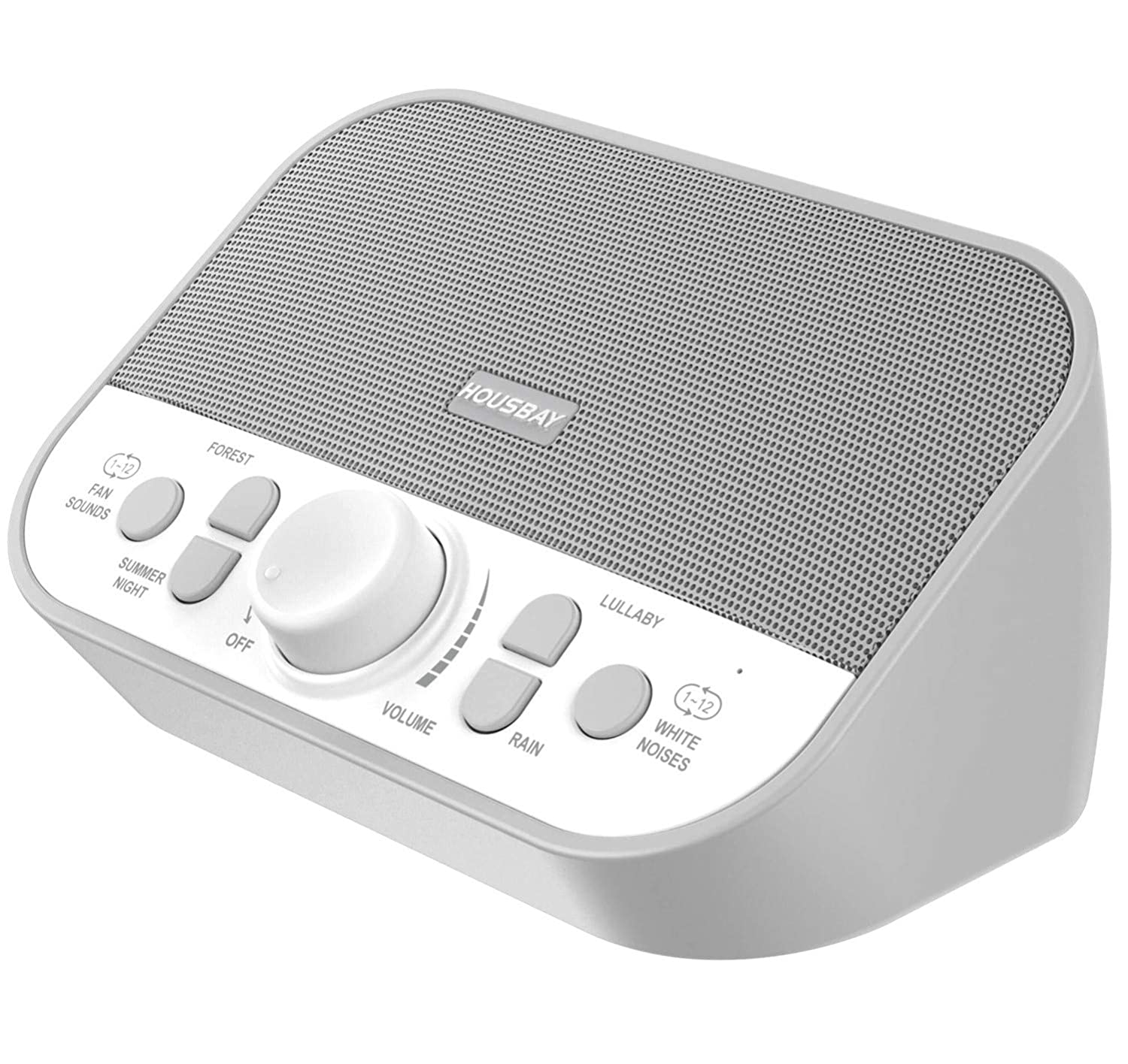 Housbay Sound Machine - White Noise Machine for Sleeping with 28 Soothing Sounds