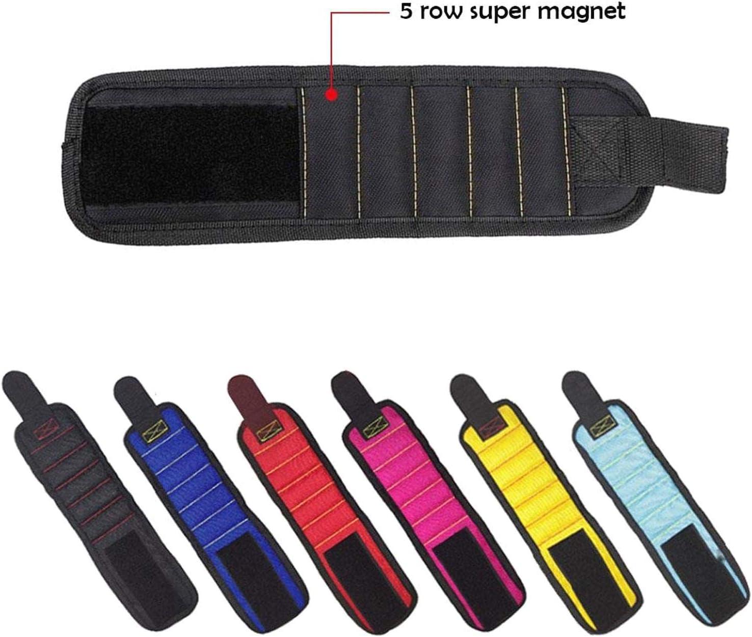 Weihnachtsgeschenk f/ür Heimwerker Atmungsaktives magnetisches Armband eingebettet mit super starken Magneten langlebiges Werkzeug komfortables Design f/ür Werkzeuge