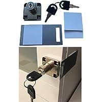 Zelfklevend opzetslot incl. slotplaat + reservepads + twee sleutels – kleefslot op kasten, meubels op kantoor, keuken…